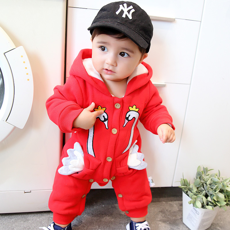 Newborn Baby Clothes Cartoon Swans Baby Rompers Long Sleeve Baby Girls Clothing Autumn Baby Boy Jumpsuits Infant Costume autumn baby rompers brand ropa bebe autumn newborn babies infantial 0 12 m baby girls boy clothes jumpsuit romper baby clothing