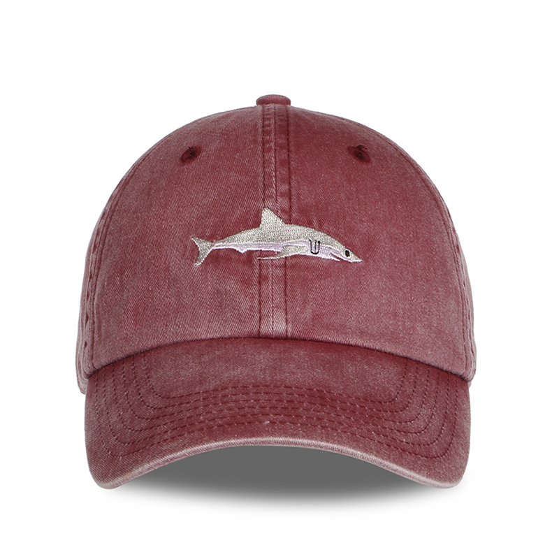 paul shark baseball cap cotton washed caps men hats embroidery dad hat women and fin