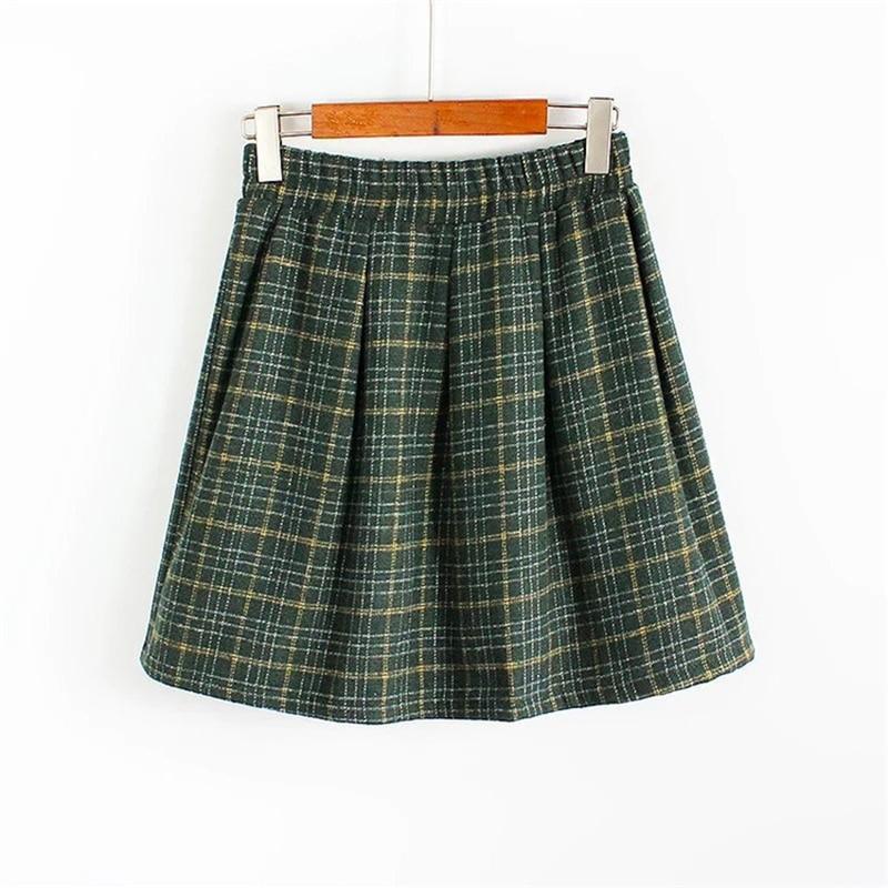 Plaid School Uniform Skirts - Skirts
