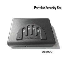 Сейф с паролем, твердый стальной кодовый замок безопасности ключ пистолет, деньги, ценности, шкатулка для ювелирных изделий, переносной Сей