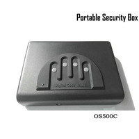 Password Safe Box Solid Steel Security Combination Lock Key Gun Money Valuables Jewelry Box Protable Security Strongbox OS500C