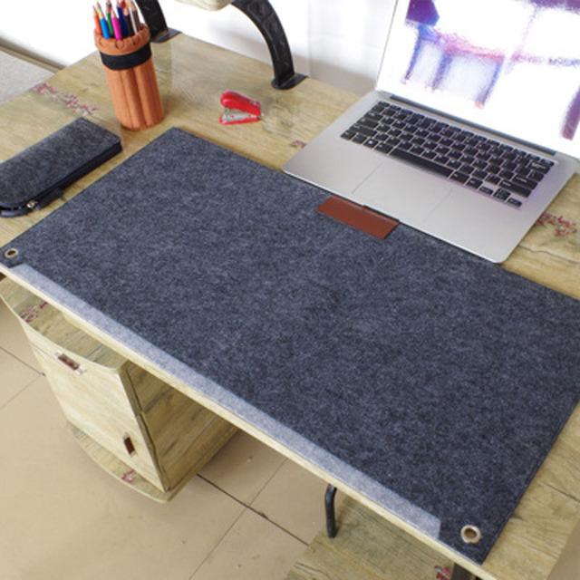 Gentil Durable Computer Desk Mat Modern Table Felt Office Desk Mat Mouse Pad Pen  Holder Wool Felt