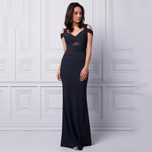 Eightree Sheer Mesh Romantic Prom Gown Chic Cold Shoulders Sleeveless Mermaid Evening Dresses Long Fitted Straight Hem Illusion