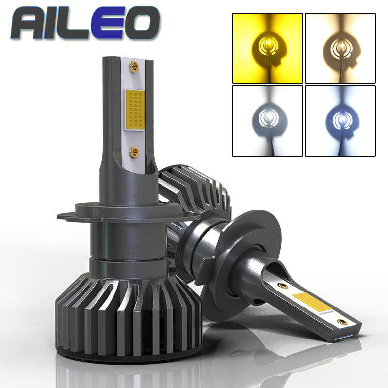AILEO Car Headlight Bulbs F2 H4 LED H7 canbus H11 H1 H3 9005 9006 HB3 HB4 HB2 HIR2 H16JP 4300K 3000K 8000K Auto Fog light lamp