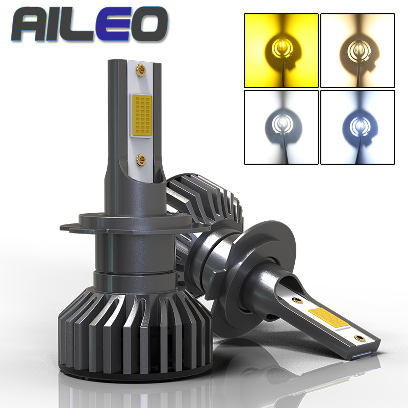 AILEO Car Headlight <font><b>Bulbs</b></font> F2 H4 LED H7 canbus H11 H1 H3 9005 9006 HB3 <font><b>HB4</b></font> HB2 HIR2 H16JP 4300K <font><b>3000K</b></font> 8000K Auto Fog light lamp image