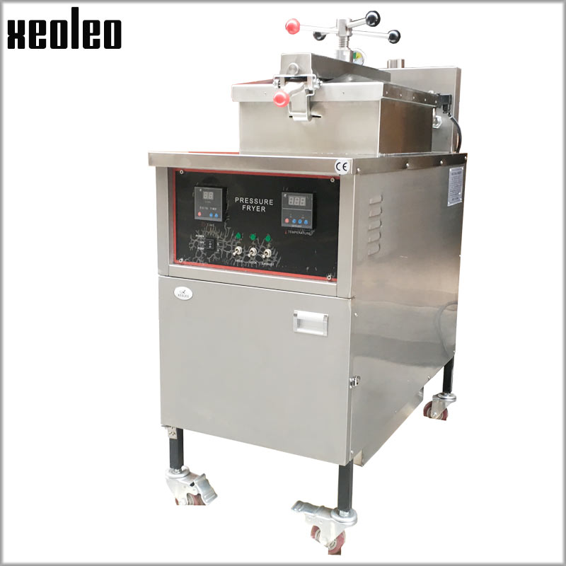 XEOLEO Commercial Fryer 25L Pressure Fryer Electric Deep Fryer 12KW Stainless steel Manual Control Chicken Frying machine CE