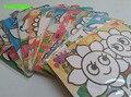 HAPPYXUAN 10 pçs/lote 15*20.5 cm Cor Pintura de Areia Arte Cartão de Etiqueta Conjunto Preschool Educacional Brinquedos de Desenho para Crianças