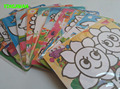 HAPPYXUAN  10pcs/lot 15*20.5cm Color Sand Art Sticker Card Painting Set Preschool Educational Drawing Toys for Child