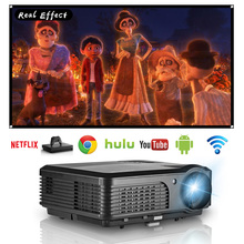 LED Home Cinema Projector Android Bluetooth Wifi Full HD Video Mobile Beamer HDMI VGA USB