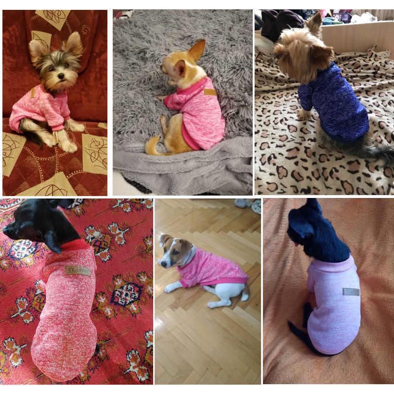 애완 동물 고양이를위한 작은 개 저지 고양이 스웨터 의류에 대한 개 옷 치와와 따뜻한 개 저지 가을과 겨울 스웨터 계속