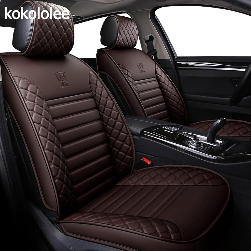 kokololee pu leather car seat covers for dacia duster hyundai creta lada kalina mercedes w211