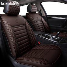 Kokolole housses de siège auto en cuir synthétique polyuréthane, pour dacia duster, hyundai creta lada kalina, mercedes w211, nissan qashqai, accessoires automobiles