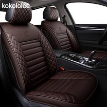 [Kokololee] capas de couro para assento de carro, capas para dacia duster hyundai creta lada kalina mercedes w211 nissan qashqai auto acessórios