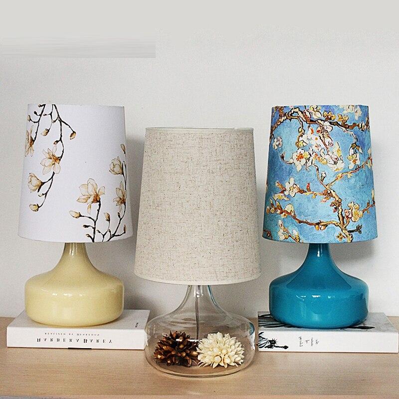 Desk Lamps Table lamp Nordic simple creative pastoral linen bedroom bedroom living room warm bedside lamp CL ZS99