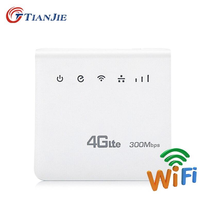Routeurs Wifi CPE intérieur 300 Mbps 4G LTE routeurs mobiles haut débit FDD TDD Hotspot modems sans fil avec emplacement pour carte SIM Port LAN RJ45