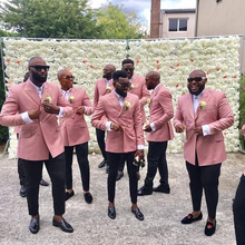 Blush Pink Double-breasted Men's Suit for Wedding Groomsmen Suits Slim Fit 2 Pieces Wedding Tuxedo for Man Party Suits