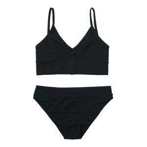Image 5 - צרפתית Bralette דק משולש כוס חזיית סט סקסי חזרה כותנה תחתוני אופנה נשים חזיות תחתוני סט גמישות הלבשה תחתונה