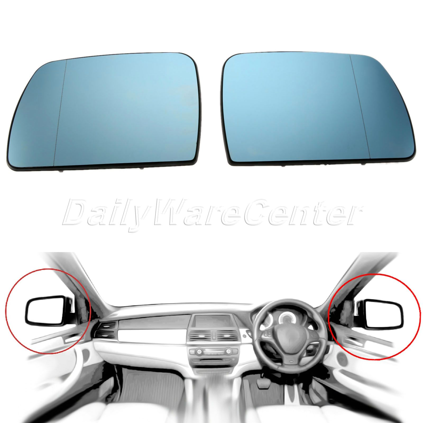 2003-2016 UK Driver Side Convex Wing Mirror Glass For Car Year