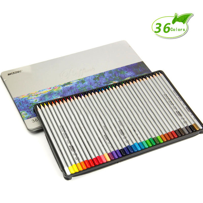 36 Colors/Set Artist Using Oil Colored Pencil Iron Box Painting Drawing Pen Set for Art School Stationery Supplies велосипед dewolf j12 boy 2017