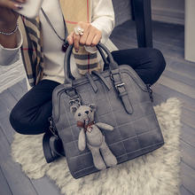Christmas gift New Brand women's handbag big bag plaid all-match messenger bag brief shell bag women's handbag