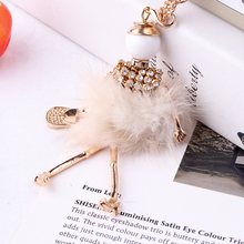 Winter New Rabbit Fur Handmade French Doll Statement Necklaces Long Chain Pendant Alloy Bohemian Choker Girls Women Accessories