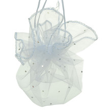 100pcs diameter 26cm White Round Organza Bag Drawstring jewelry packaging bags for Wedding/gift/food/candy/Christmas Yarn bag