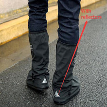 купить wholesale With Relectors Waterproof reusable Motorcycle Cycling Bike Rain Boot Shoes Covers Easy to ride for rider дешево