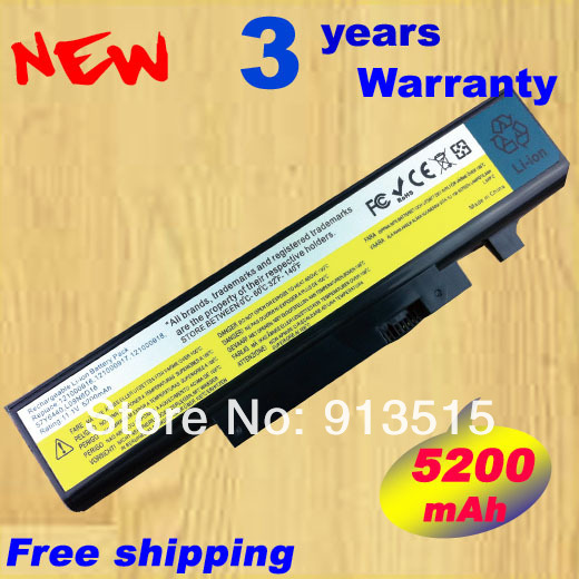 Replacement laptop battery for LENOVO L09N6D16 L09S6D16 L10L6Y01 L10L6Y01 L10N6Y01 L10S6Y01 IdeaPad Y460 Y560 B560 V560
