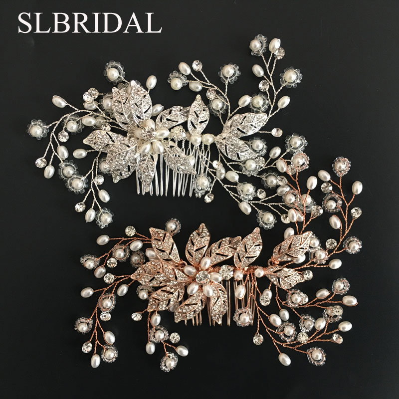 SLBRIDAL Handmade Wired Rhinestones Crystals Flower Leaf Wedding Hair Comb Bridal Headpiece Hair Accessories Bridesmaids Jewelry-in Hair Jewelry from Jewelry & Accessories on Aliexpress.com | Alibaba Group