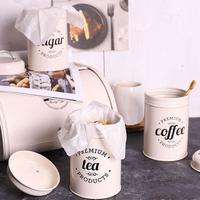 30# 3Pcs/Set Tea Coffee Sugar Storage Canister Kitchen Spice Jar Candy Pot with Lid Kitchen Accessory Supply