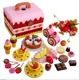 Mother Garden Strawberry Chocolate Birthday Cake Group Honestly Watch Children Play House Wooden Toys