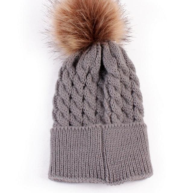 5ad4cae343a Infantil Toddler Newborn New Cute Baby Kids Boys Girls Unisex Knitted  Crochet Beanie Winter Warm Hat Cap
