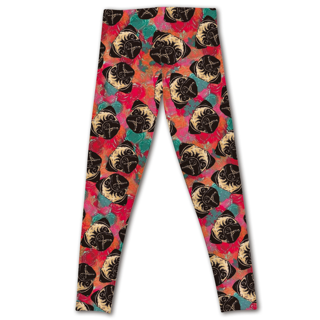 2016 new model HOT Sexy Fashion Slim Pirate Leggins Pants Digital Printing LEGGINGS of  red bottom angry dog