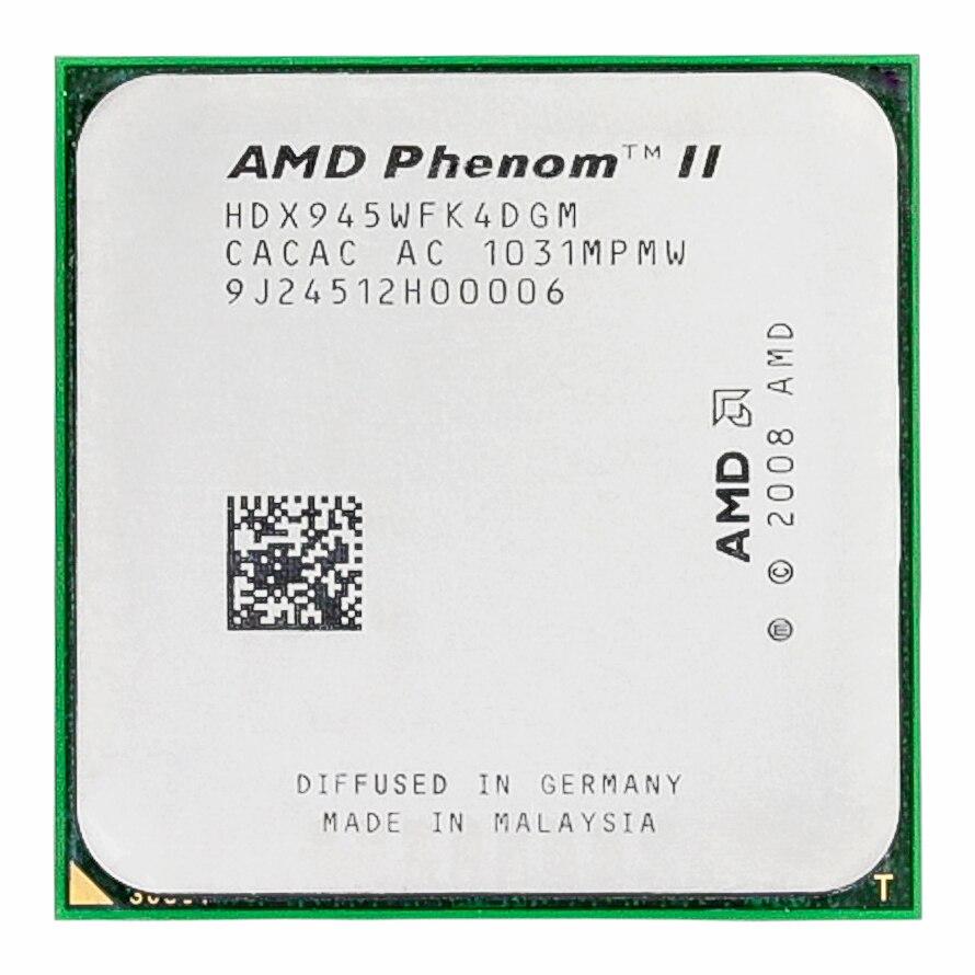 AMD Phenom II X4 945 95W 3.0GHz 6MB Quad-Core CPU Processor Socket AM3