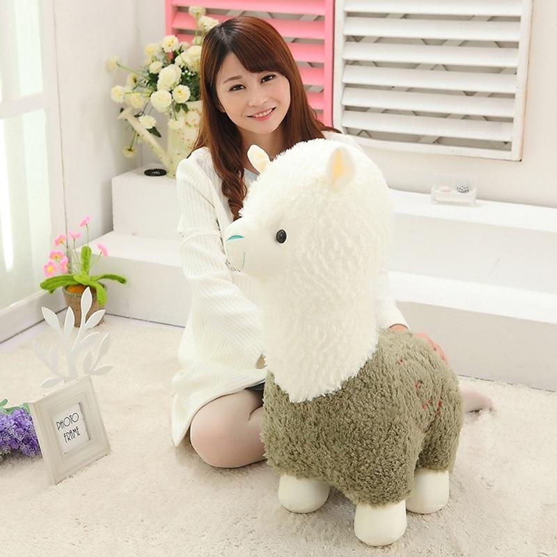 Kawaii Sheep Alpaca Dolls Plush Toys Stuffed Llama Yamma Pillow Soft - პლუშები სათამაშოები - ფოტო 5