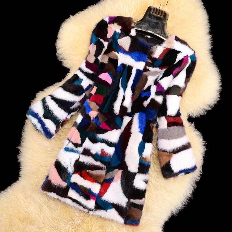 Coloré Fourrure Les Véritable gris Vison Dames Outwear Personnalisé Veste Hiver Toutes Manteau Mode Naturel Chaud Réel Tailles De Rouge Femmes q4Sa7A7n