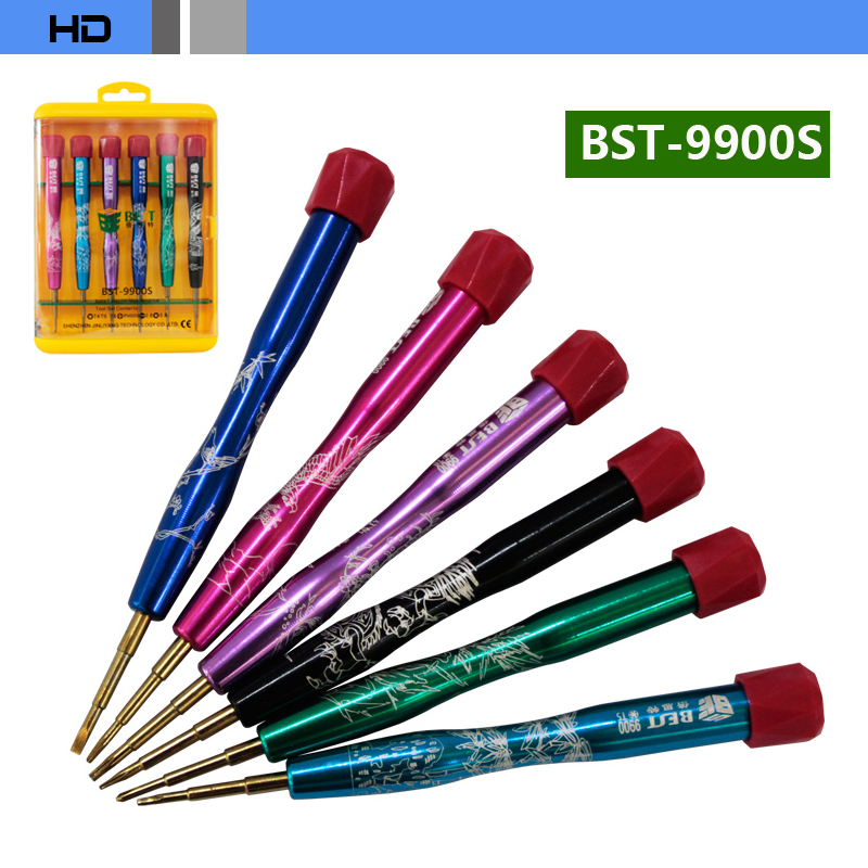 <font><b>BEST</b></font> BST-9900S 6 in 1 <font><b>Disassemble</b></font> <font><b>tools</b></font> <font><b>set</b></font> Cross flat Philips <font><b>screwdrivers</b></font> special <font><b>for</b></font> Cellphone computer repair free shipping