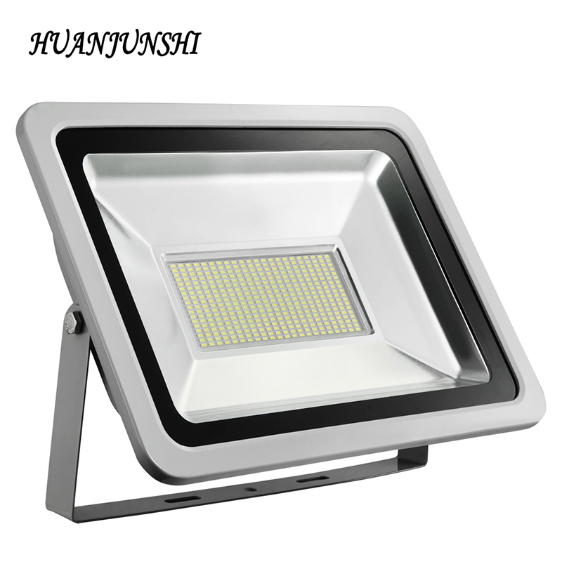 HUAN JUN SHI LED flood light 200W led floodlight waterproof IP65 AC85-265V outdoor spotlight garden Lamp lighting 2pcs led flood light waterproof ip65 200w 90 240v led floodlight spotlight fit for outdoor wall lamp garden projectors