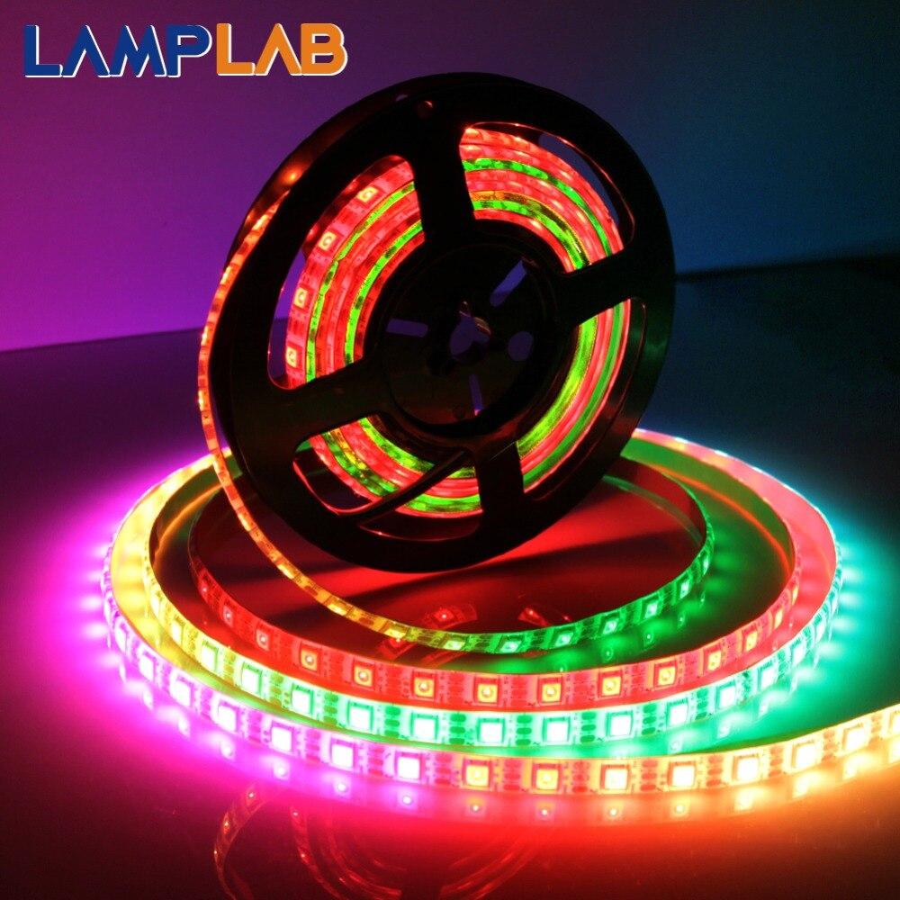 WS2812B Rayé Lampes Led 5050 RGB 30//60//144 Led//M Ic Individuel Adressable Dc5v
