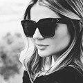 Senhoras Moda Óculos De Sol Mulheres Flat Top Oversize Forma Escudo Óculos de Design Da Marca Óculos de Sol Do Vintage UV400 Feminino Rebite 2016