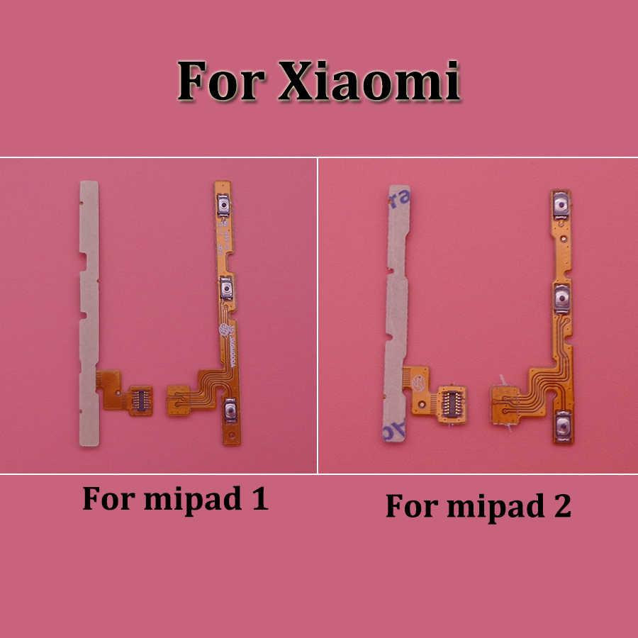1 piezas para Xiaomi de MiPad 1 2 botón de volumen Cable Flex poder de volumen abajo conector piezas de repuesto