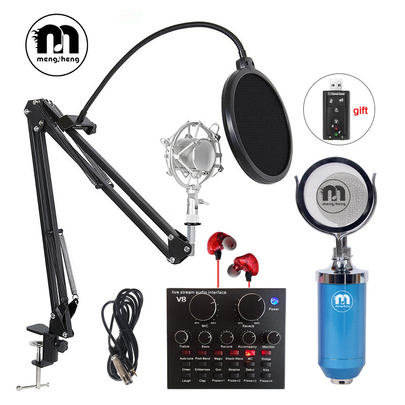 MS Professional Condenser Microphone for Computer M16 Audio Studio Vocal Recording Music/Gaming/Video/Chat Studio Microphone PC