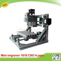 LY 1610 CNC Laser 2 in 1 machine mini CNC milling machine + 2500mw laser router with GRBL control