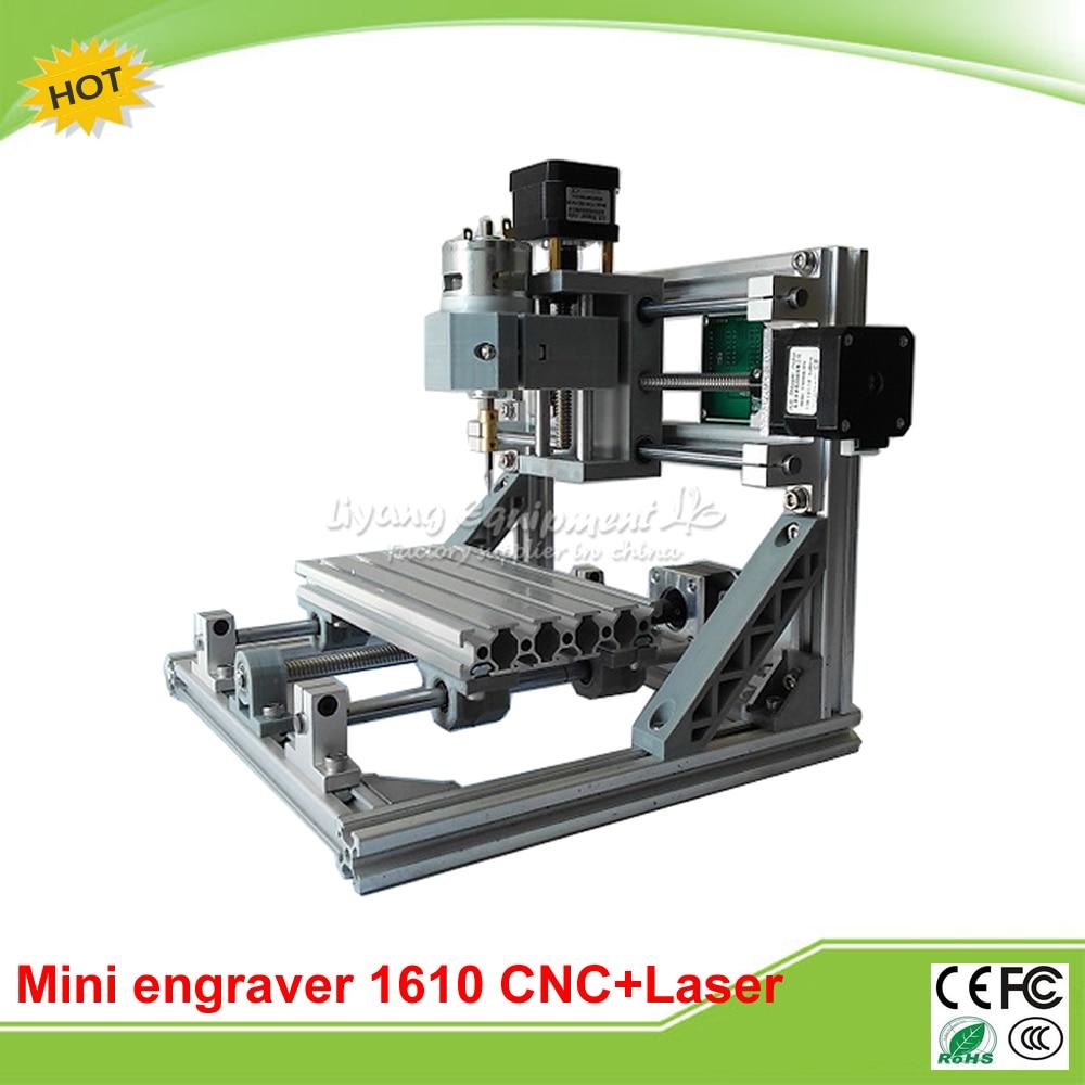 LY 1610 CNC Laser 2 en 1 machine mini CNC fraiseuse + 2500 mw routeur laser avec contrôle GRBL