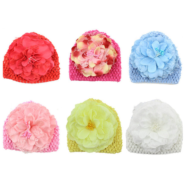 a6970eb5094 Spring autumn Cotton Baby Hat Newborn Baby Flower Cotton Hat Beanie Toddler  Girls Photography Props baby