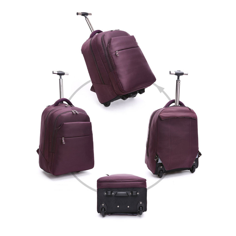 fashion men Backpack women Travel bag Waterproof Versatile Pull rod Backpacks Baggage bag laptop bags Anti-theft lock backpack