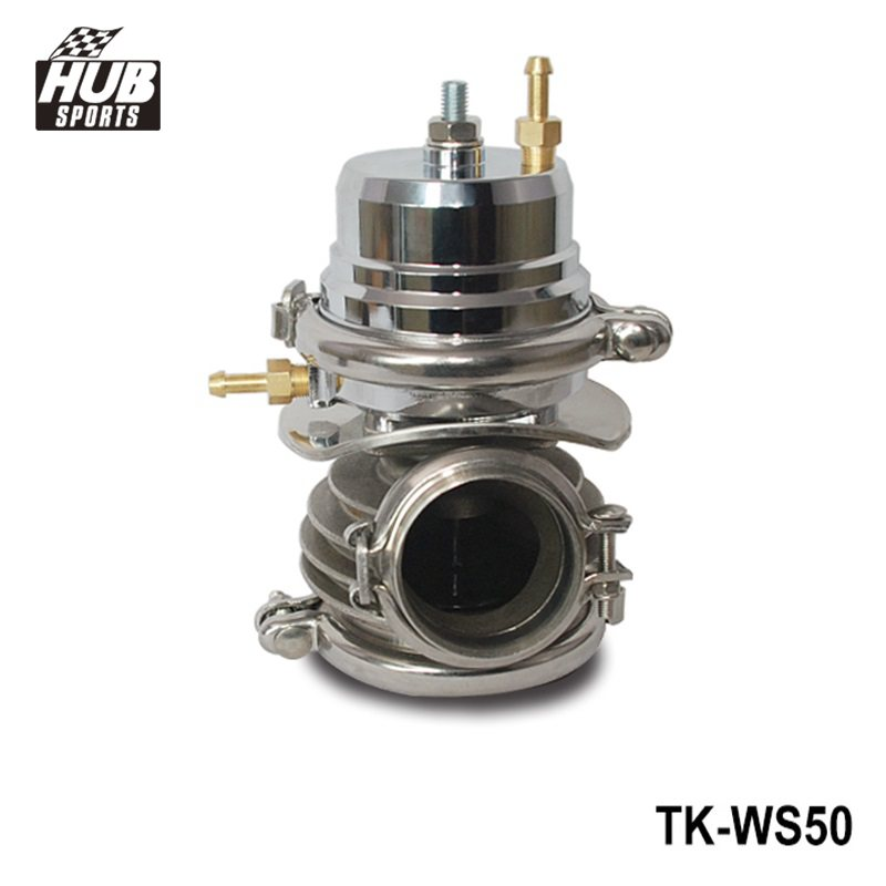 купить Turbo Charger V-band 50mm External Wastegate Bypass Exhaust Manifold HU-WS50 по цене 3260.48 рублей
