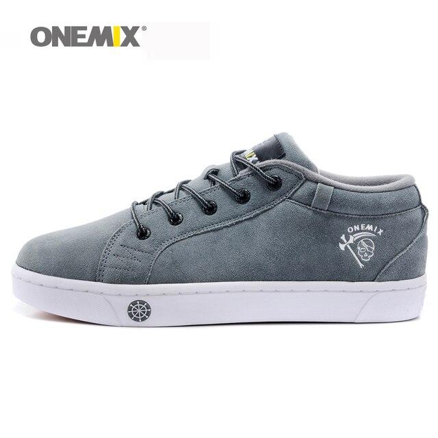 Onemix Для Мужчин's Скейтбординг обувь Обувь спортивная для девочек дышащая прогулочная спорта на открытом воздухе Мужская обувь прогулочная Бесплатная доставка EU39-45