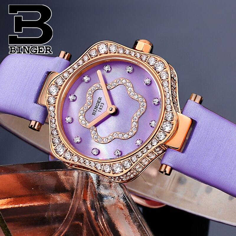 Neue Schweiz BINGER frauen Uhren Luxus Marke Quarz Wasserdichte Uhr Frau Sapphire Armbanduhren relogio feminino B1150 8 - 5