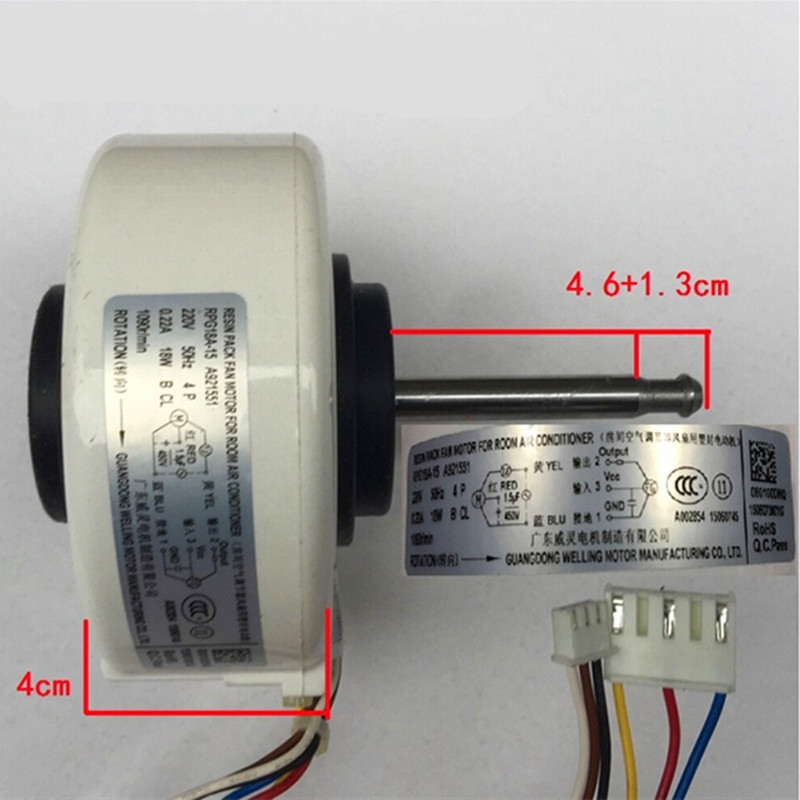 1pcs RPG18A 15 for Panasonic Air Conditioner Indoor Fan Motor T26N4P A921544 Air Conditioning Parts